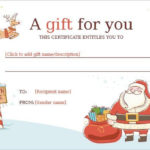 11+ Kids Christmas Certificate Templates | Free Printable Throughout Best Christmas Gift Certificate Template Free