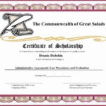 11+ Scholarship Certificate Templates | Free Word & Pdf Samples With Regard To Quality Scholarship Certificate Template Word
