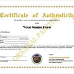 12+ Certificate Of Authenticity Templates – Word Excel Samples With Authenticity Certificate Templates Free
