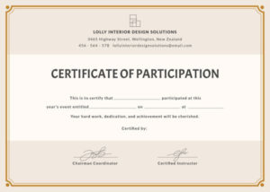 12+ Certificate Of Participation Templates | Free Printable in Unique Certificate Of Participation Template Doc