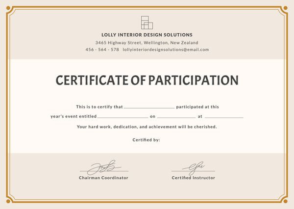 12+ Certificate Of Participation Templates   Free Printable Pertaining To Best Certification Of Participation Free Template