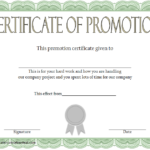 12+ Certificate Of Promotion Templates Free Download In Quality Free Printable Certificate Of Promotion 12 Designs