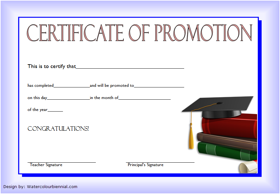 12+ Certificate Of Promotion Templates Free Download Intended For Quality Free Printable Certificate Of Promotion 12 Designs