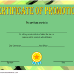 12+ Certificate Of Promotion Templates Free Download Regarding Free Printable Certificate Of Promotion 12 Designs