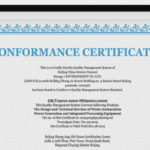 12+ Conformance Certificates – Psd , Word, Ai, Indesign Pertaining To New Certificate Of Conformance Template