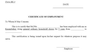 12 Free Sample Employment Certificate Templates – Printable inside Quality Construction Certificate Template 10 Docs Free