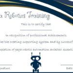 12+ Robotics Certificate Templates For Training Institutes In New Robotics Certificate Template