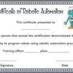 12+ Robotics Certificate Templates For Training Institutes Intended For New Robotics Certificate Template
