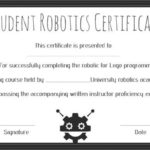 12+ Robotics Certificate Templates For Training Institutes Pertaining To Robotics Certificate Template Free