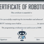 12+ Robotics Certificate Templates For Training Institutes Pertaining To Unique Robotics Certificate Template Free