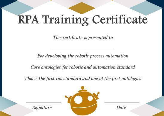 12+ Robotics Certificate Templates For Training Institutes regarding Unique Robotics Certificate Template Free