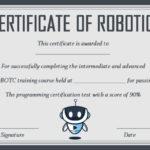 12+ Robotics Certificate Templates For Training Institutes Within New Robotics Certificate Template