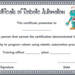 12+ Robotics Certificate Templates For Training Institutes Within Unique Robotics Certificate Template Free