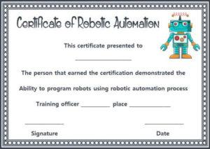 12+ Robotics Certificate Templates For Training Institutes within Unique Robotics Certificate Template Free