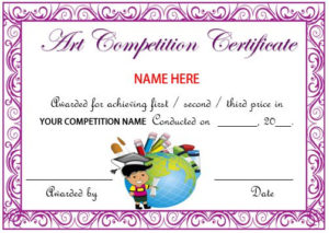 13 Admirable Drawing Competition Certificates : Templates inside Drawing Competition Certificate Templates