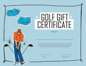 13 Free Printable Gift Certificate Templates [Birthday for Golf Gift Certificate Template