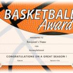 13 Free Sample Basketball Certificate Templates – Printable For New Basketball Certificate Template Free 13 Designs