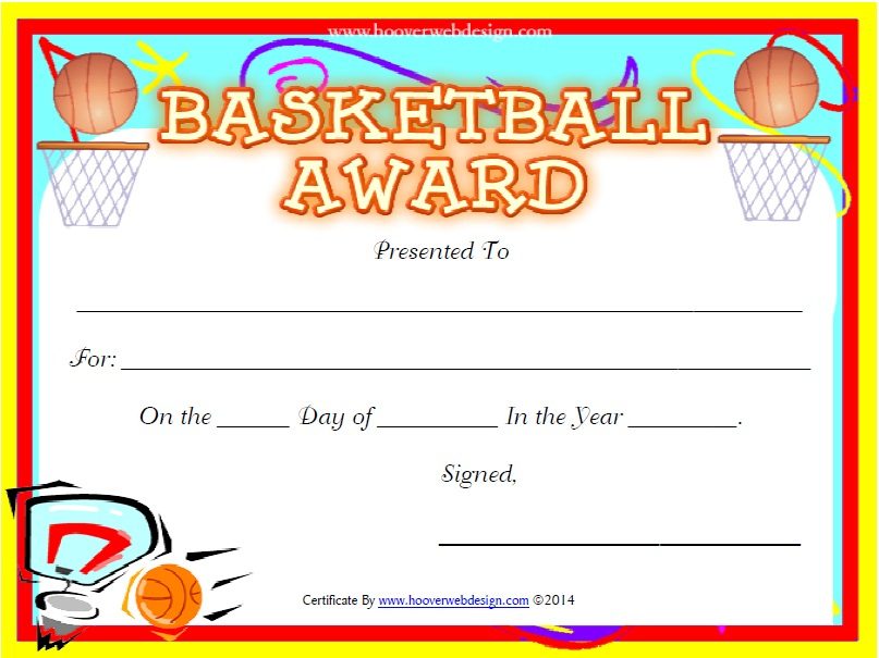 13 Free Sample Basketball Certificate Templates - Printable in Basketball Certificate Templates