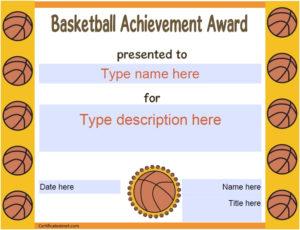 13 Free Sample Basketball Certificate Templates – Printable pertaining to Basketball Certificate Template Free 13 Designs