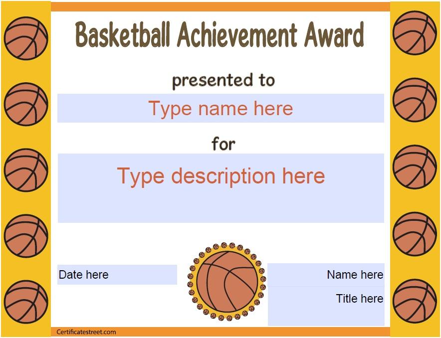13 Free Sample Basketball Certificate Templates - Printable pertaining to Basketball Certificate Template Free 13 Designs