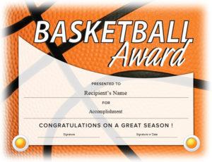 13 Free Sample Basketball Certificate Templates – Printable throughout Basketball Certificate Template