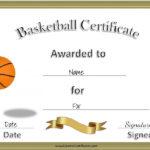 13 Free Sample Basketball Certificate Templates – Printable Throughout New Basketball Certificate Template