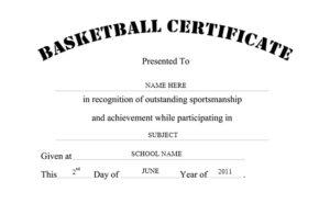 13 Free Sample Basketball Certificate Templates – Printable throughout New Basketball Certificate Template Free 13 Designs