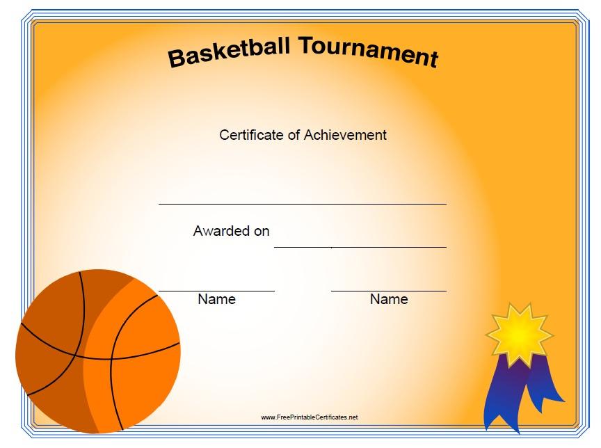 13 Free Sample Basketball Certificate Templates - Printable throughout New Basketball Certificate Template Free 13 Designs