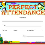 13 Free Sample Perfect Attendance Certificate Templates With Perfect Attendance Certificate Template Free