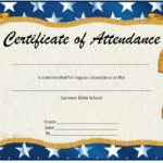 13 Free Sample Perfect Attendance Certificate Templates With Regard To Unique Perfect Attendance Certificate Template Free