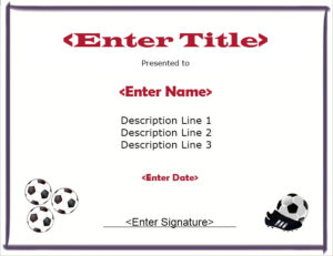 13 Free Sample Soccer Certificate Templates – Printable Samples for Quality Soccer Award Certificate Template