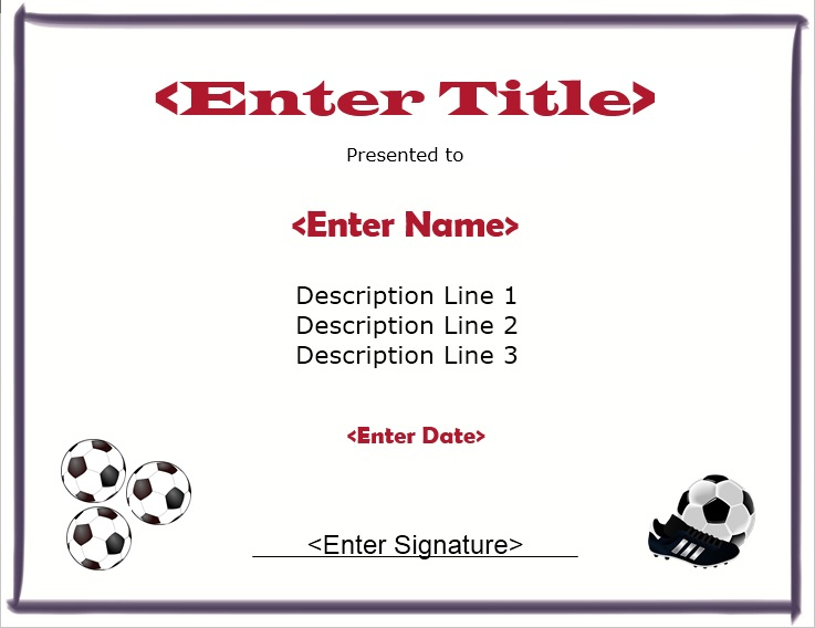 13 Free Sample Soccer Certificate Templates - Printable Samples for Quality Soccer Award Certificate Template