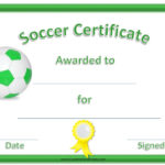 13 Free Sample Soccer Certificate Templates – Printable Samples In Fresh Soccer Award Certificate Templates Free
