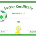 13 Free Sample Soccer Certificate Templates – Printable Samples Throughout Best Soccer Certificate Template