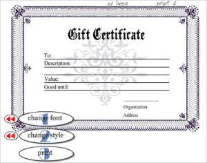 13+ Generic Certificate Templates   Free Printable Word pertaining to Generic Certificate Template