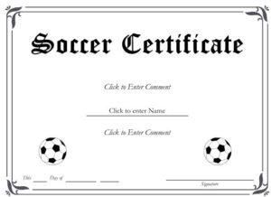 13+ Soccer Award Certificate Examples – Pdf, Psd, Ai in Quality Soccer Award Certificate Template