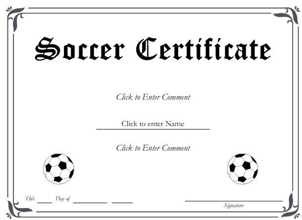 13+ Soccer Award Certificate Examples - Pdf, Psd, Ai in Quality Soccer Award Certificate Template
