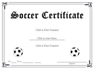 13+ Soccer Award Certificate Examples – Pdf, Psd, Ai pertaining to New Soccer Certificate Templates For Word