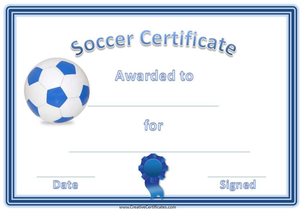 13+ Soccer Award Certificate Examples - Pdf, Psd, Ai throughout Soccer Certificate Templates For Word