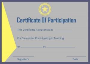 13+ Training Participation Certificate Templates – Free in Participation Certificate Templates Free Download