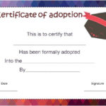 14+ Blank Adoption Certificate Templates For You To Download Within Blank Adoption Certificate Template