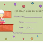 14+ Cake Competition Certificates For Bake Off & Cake Intended For Bake Off Certificate Template