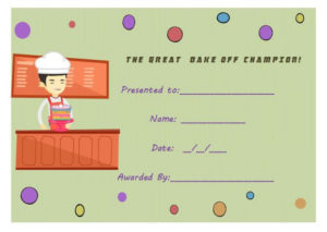 14+ Cake Competition Certificates For Bake-Off & Cake intended for Bake Off Certificate Template
