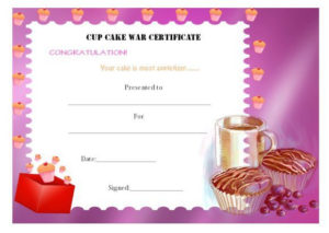 14+ Cake Competition Certificates For Bake-Off & Cake regarding New Bake Off Certificate Template