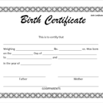 14 Free Birth Certificate Templates In Ms Word & Pdf Pertaining To Fillable Birth Certificate Template