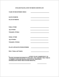 14 Free Birth Certificate Templates In Ms Word & Pdf with Birth Certificate Translation Template