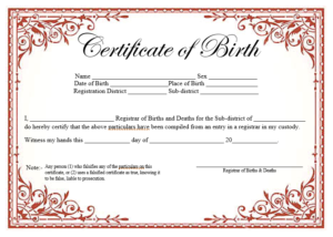 14 Free Birth Certificate Templates In Ms Word & Pdf within New Birth Certificate Template For Microsoft Word