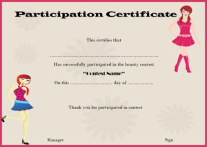 14+ Free Pageant Certificate Templates For Your Next Contest intended for Unique Pageant Certificate Template