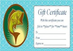 14 Free Printable Fishing Gift Certificate Templates [Best for Best Fishing Gift Certificate Editable Templates