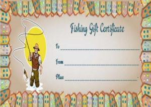 14 Free Printable Fishing Gift Certificate Templates [Best inside Best Fishing Gift Certificate Editable Templates